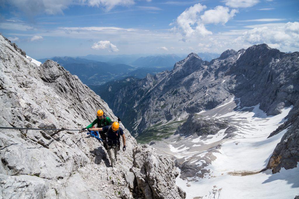 Klettersteig Höllental : Höllental mit bergführer ludwig karrasch