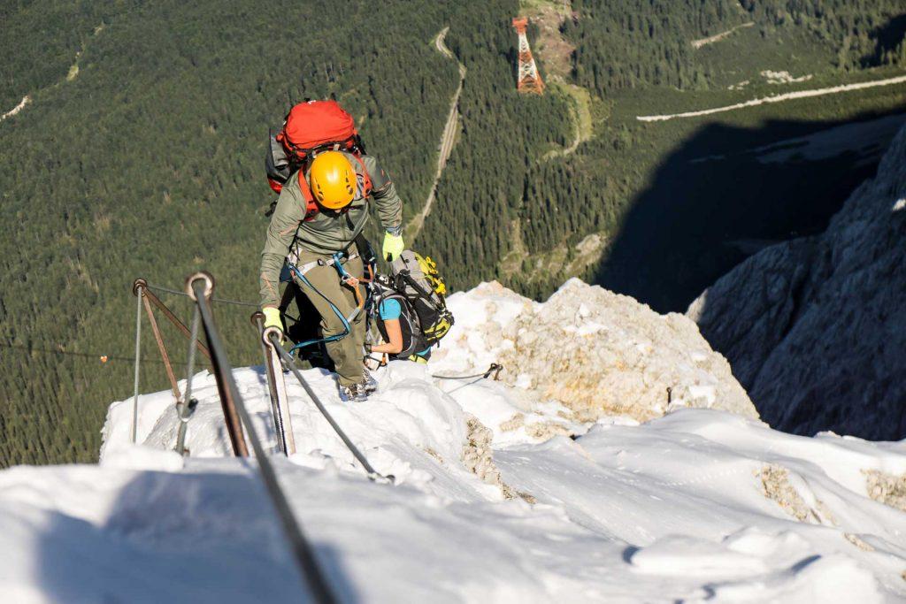 Klettersteigset Zugspitze : Zugspitze ° u route