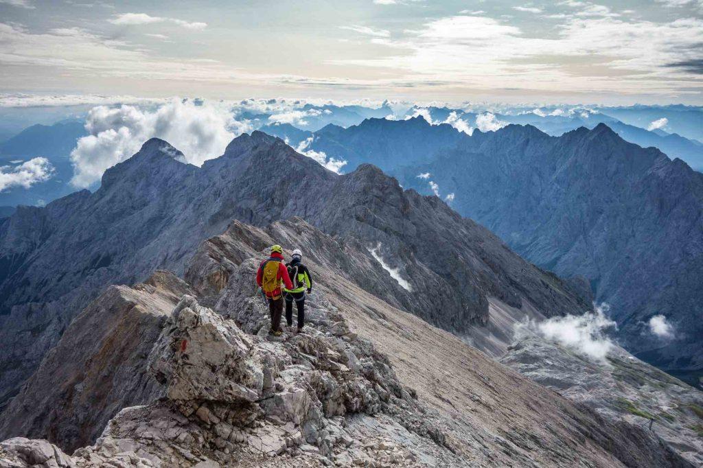 Jubiläumsgrat Klettersteigset : Führung jubiläumsgrat ludwig karrasch bergführer