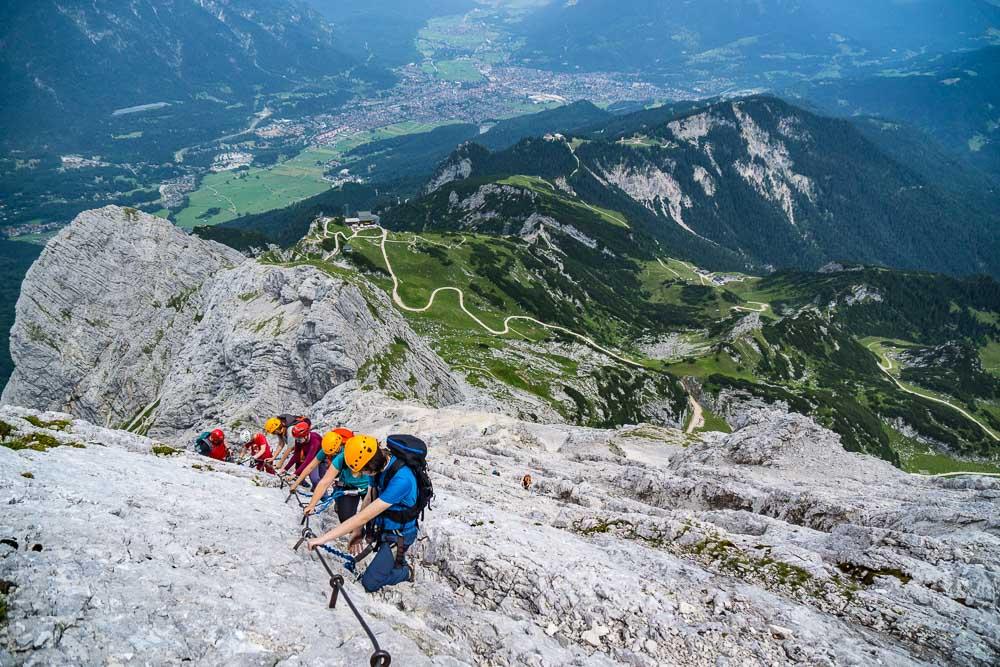 Klettersteig Alpspitze : Klettersteigführung auf die alpspitze ludwig karrasch bergführer